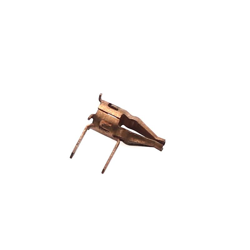 1mm爪簧端子卡簧端子C17200鼓簧端子插接件端子铍铜冠簧端子QBe2.0爪簧端子