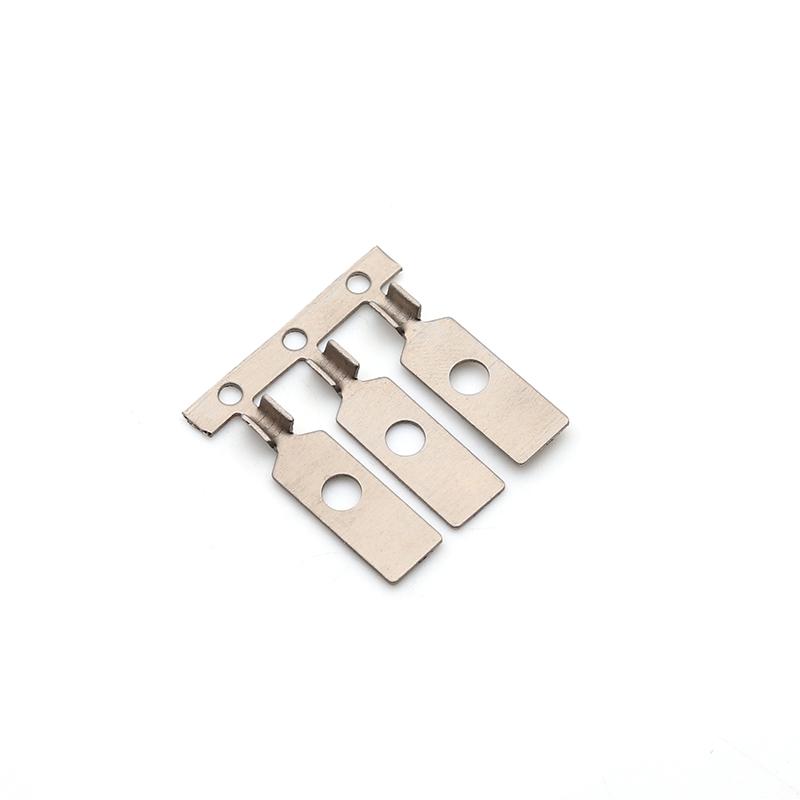 6x14纯镍带带孔端子新能源汽车端子焊接端子精密端子模具开发志盈端子