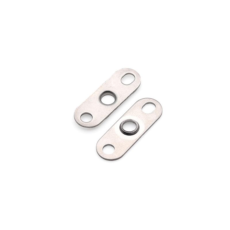 1.0t三孔不锈钢挡片端子 传感器端子接插件端子空调端子抽芽端子翻孔铜片