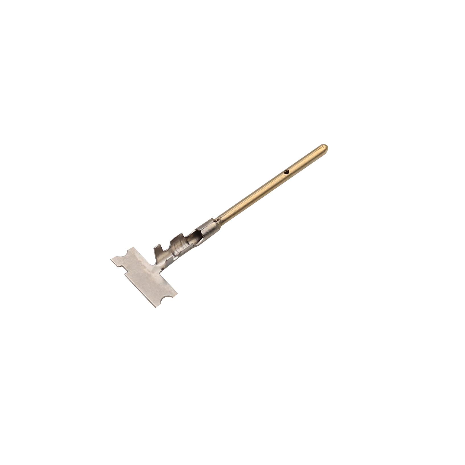 1.0x21.5鍍金公端 醫療端子接插件端子精密模具優質生產廠家志盈端子