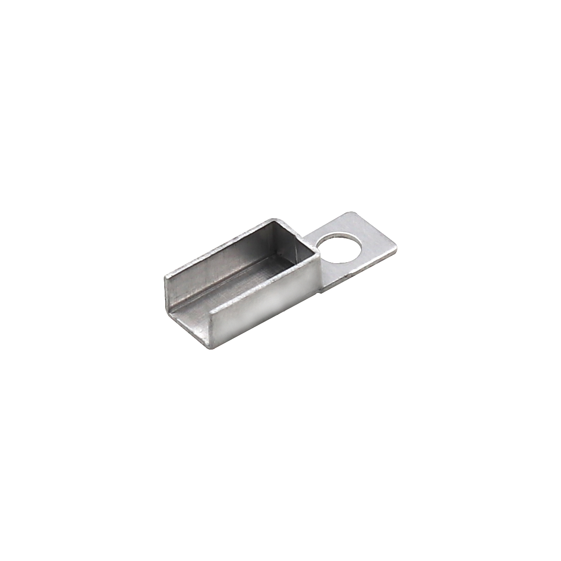 7.5x18.5x0.5t鋁端子有孔 鋁殼傳感器端子AL1060精密模具生產廠家志盈端子