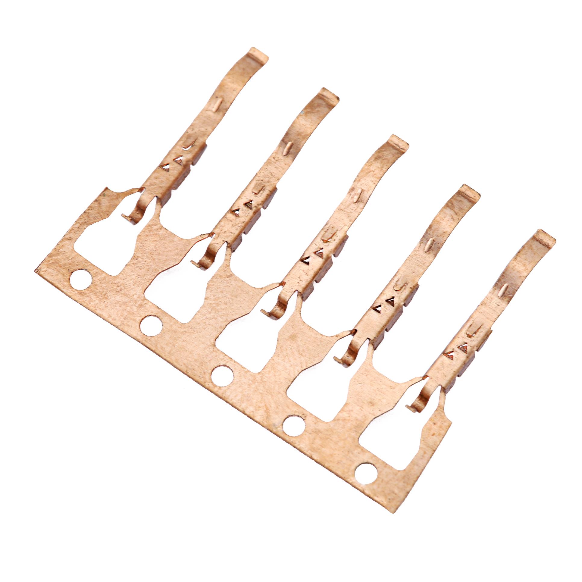 QD帶尾磷銅端子 電聲端子通訊接線端子五金彈片精密模具潮州端子廠家直銷